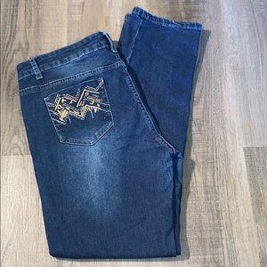 Target Dkin Straight Leg Dark Wash Jeans size 10